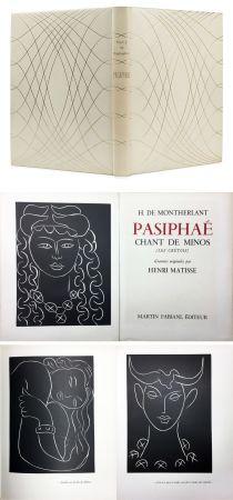 Libro Ilustrado Matisse - H. de Montherlant: PASIPHAE. Chant de Minos. (Les Crétois) Gravures originales d'Henri Matisse (1944).