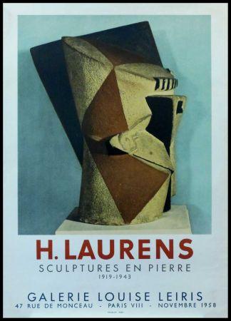 Cartel Laurens - H. LAURENS - GALERIE LOUISE LEIRIS SCULPTURES EN PIERRE