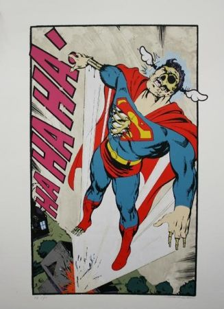 Serigrafía D-Face - Ha, Ha, Ha Not So Superman