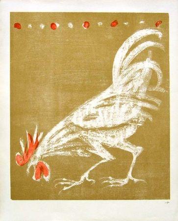 Litografía Fischer - Hahn / Rooster