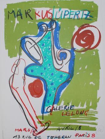 Litografía Lüpertz - (hand signed exhibition poster)