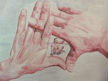 Litografía Minjun - Hands