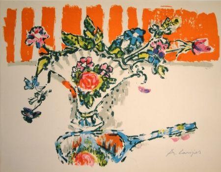Litografía Carigiet - (Handspiegel vor Blumenvase