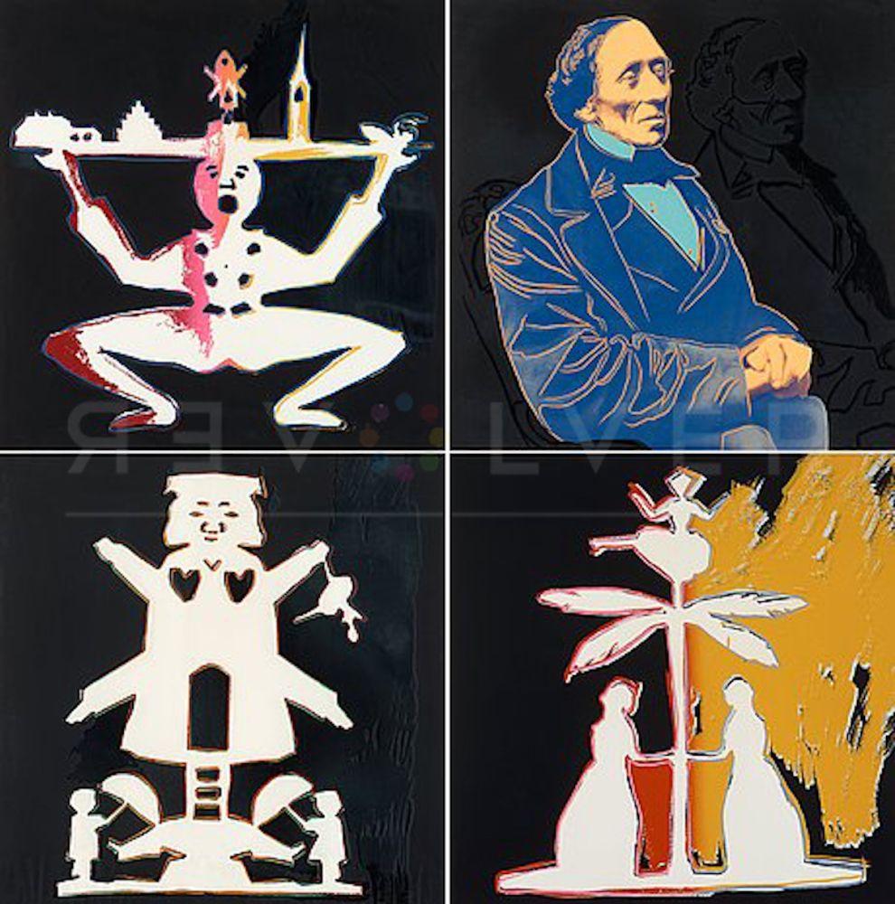 Serigrafía Warhol - Hans Christian Andersen Complete Suite (FS II.398-II.401)