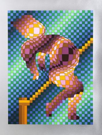 Serigrafía Vasarely - Harlequin Sportif