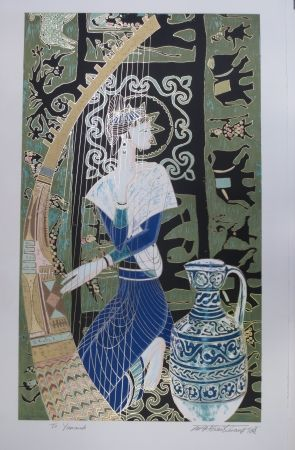 Litografía Ting - Harpe