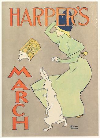 Litografía Penfield - Harper's March