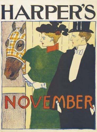 Litografía Penfield - Harper's November