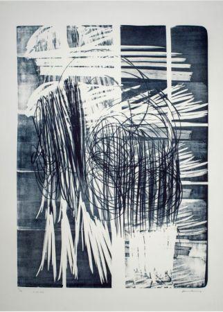 Sin Técnico Hartung - Hartung Hans (1904-1989)  L-16B-1974  Lithographie en noir