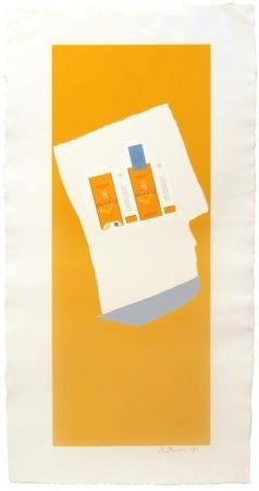 Litografía Motherwell - Harvest with Blue Bottom, from Summer Light series