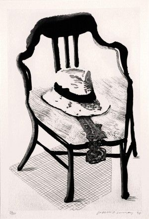 Aguafuerte Y Aguatinta Hockney - Hat On Chair, From Geldzahler Portfolio