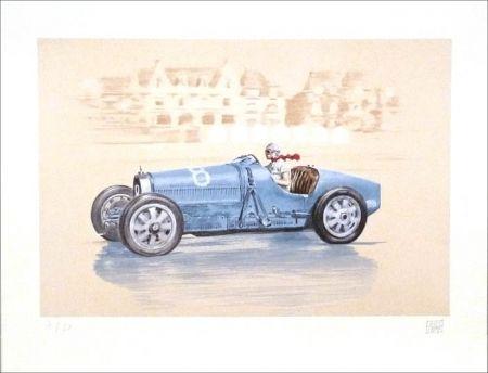 Litografía Lavictoire - Helle Nice - Bugatti