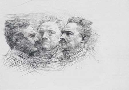Grabado Rodin - Henri Becque