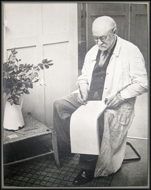 Fotografía Matisse - Henri Matisse Sketching