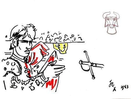 Litografía Cocteau - Hero