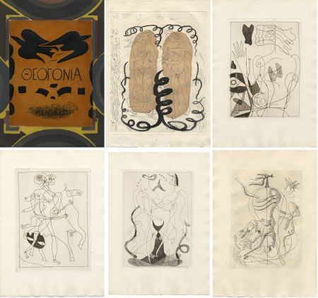 Libro Ilustrado Braque - Hesiode : THÉOGONIE.Eaux-fortes de Georges Braque. Maeght 1955.