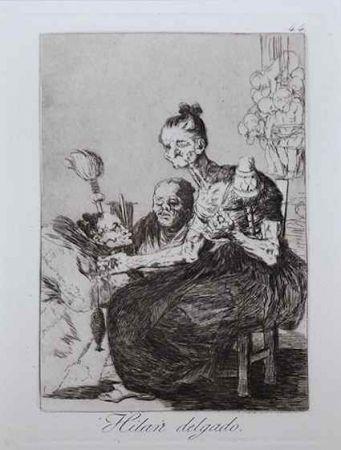 Aguafuerte Goya - Hilan delgado