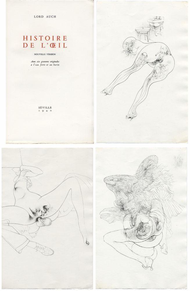 Libro Ilustrado Bellmer - HISTOIRE DE L'OEIL. Nouvelle version. Avec six gravures originales à l'eau-forte et au burin.