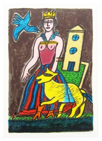 Litografía Corneille - Histoire D'une Reine