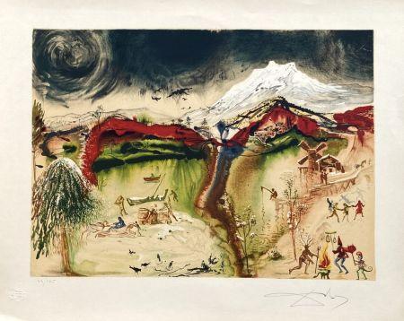Litografía Dali - Hiver (4 saisons)