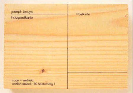 Serigrafía Beuys - Holzpostkarte