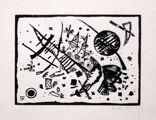 Grabado En Madera Kandinsky - Holzschnitt für die Ganymed-Mappe (from Der Dritten Ganymed-Mappe)