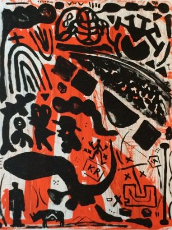 Litografía Penck - Homage to Beuys