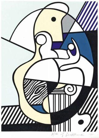 Serigrafía Lichtenstein - Homage To Max Ernst