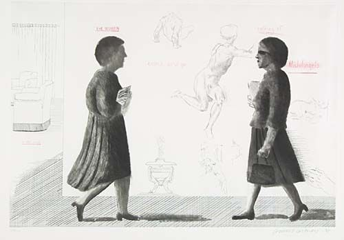 Aguafuerte Y Aguatinta Hockney - Homage to Michelangelo