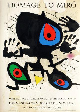Sin Técnico Miró - HOMAGE TO MIRO. Expo au MoMA de New York. 1973. Affiche originale.