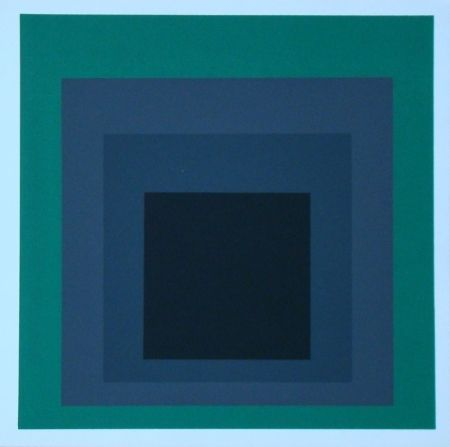 Serigrafía Albers - Homage to the Square - Grisaille and Patina, 1965
