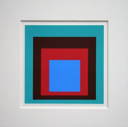 Serigrafía Albers - Homage to the Square - Protected Blue,1957