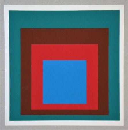 Serigrafía Albers - Homage to the Square - Protected Blue - 1957