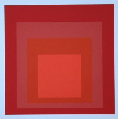 Serigrafía Albers - Homage to the Square - R-III a-4, 1968