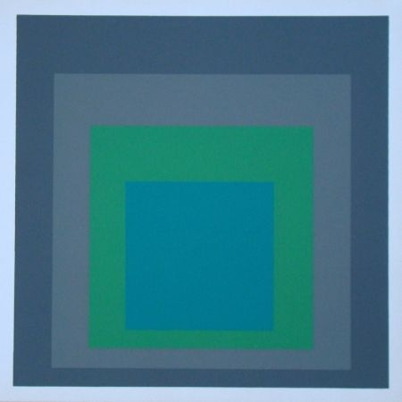Serigrafía Albers - Homage to the Square - Renewed Hope, 1962