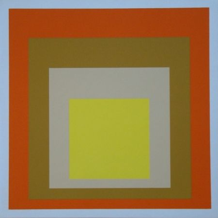 Serigrafía Albers - Homage to the Square - Yes Sir, 1955