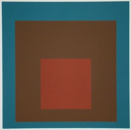 Serigrafía Albers - Homage to the Square at night, 1958