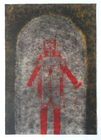 Litografía Tamayo - Hombre en Rojo