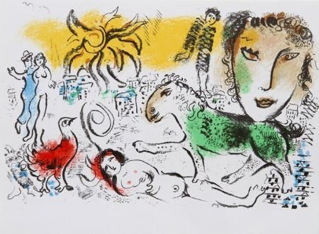 Litografía Chagall - Homecoming