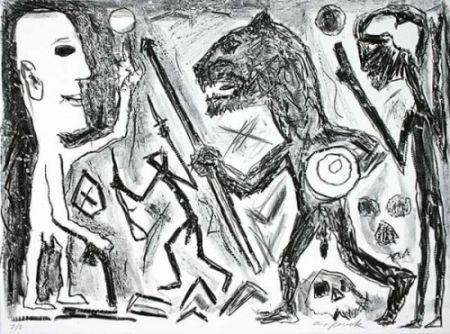 Litografía Penck - Homer u. Aristoteles, 1 Blatt