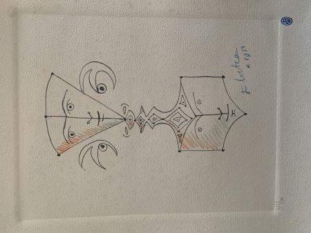 Litografía Cocteau - Hommage