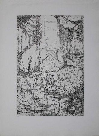 Grabado Eliasberg - Hommage à Dürer (Phantasielandschaft für Dürer)