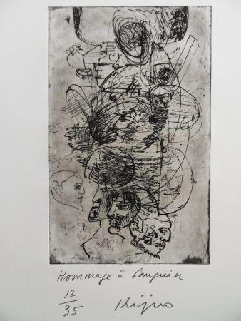 Grabado Kijno - Hommage à Gauguin
