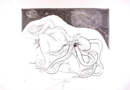 Aguafuerte Trémois - Hommage à Hokusai