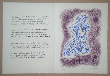 Litografía Masson - Hommage à Jean Cassou, 1978