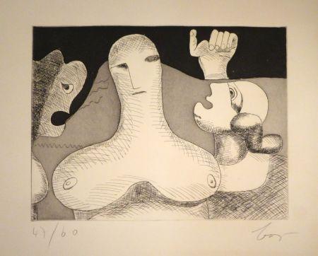 Grabado Baj - Hommage à Le Corbusier