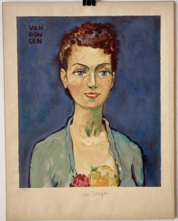 Litografía Van Dongen - Hommage à Marie-Claire- Circa 1950