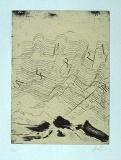 Aguafuerte Y Aguatinta Tàpies - Hommage à Max Ernst