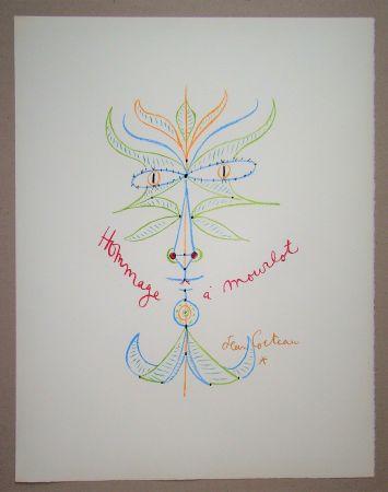 Litografía Cocteau - Hommage à Mourlot