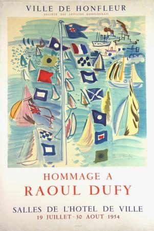 Litografía Dufy - Hommage à Raoul Dufy  Ville de Honfleur